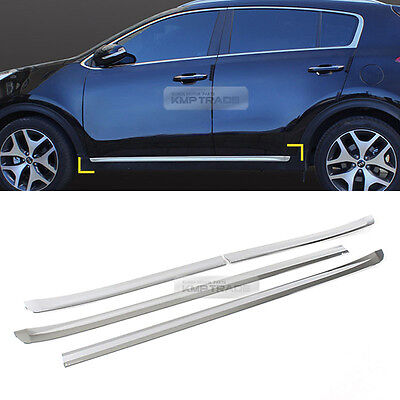 Chrome Black Door Catch Handle Molding Cover Garnish for KIA 2017-18 Sportage QL