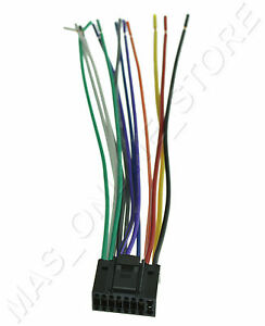 wire harness for jvc kd r540 kdr540 pay today ships today ebay rh ebay com