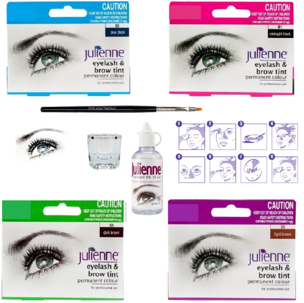 Julienne Professional Intensive Eyelash Eyebrow Dye Tint Lash Kit