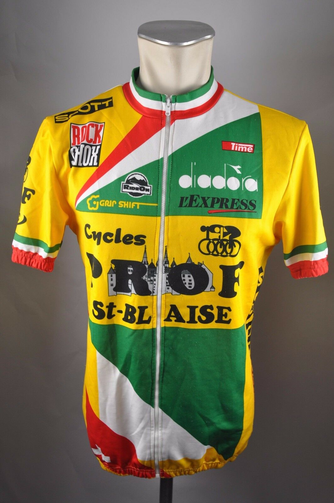 Vintage Rad Cykel Cycle Trikot Jersey Maglia Cycles Prof St-Blaise Gr. 5 R3