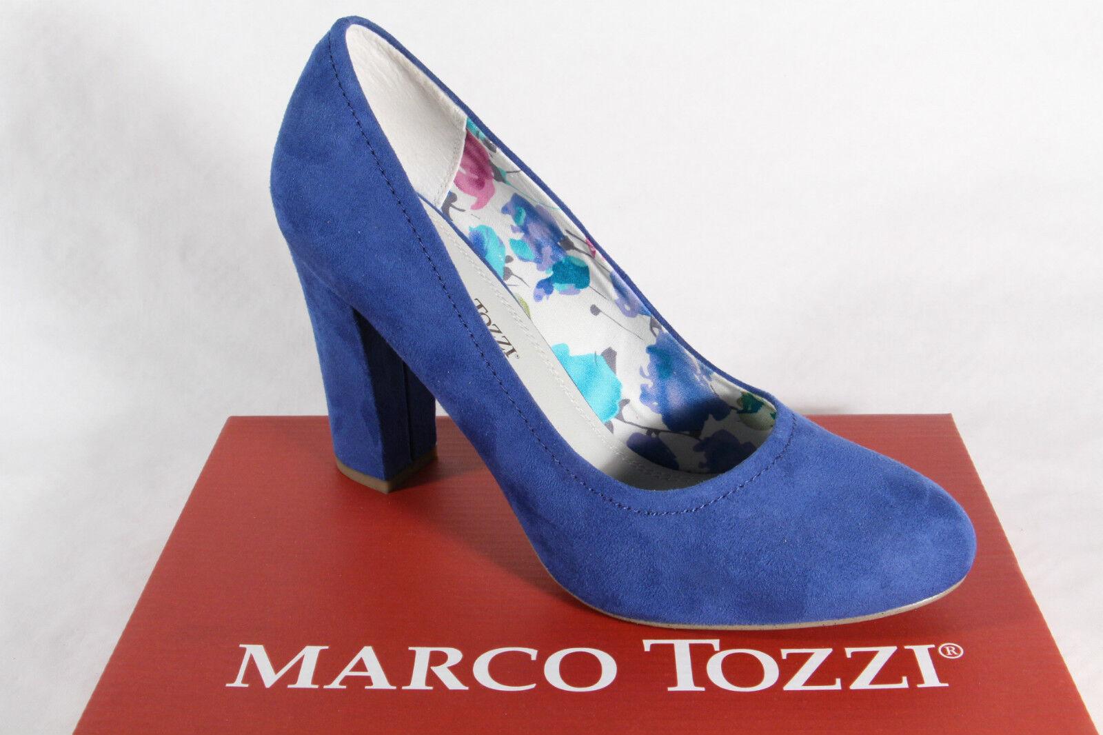 Marco Tozzi Escarpins, Bleu, Semelle Intérieure Souple Neuf