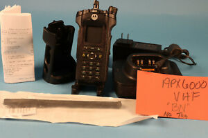 Motorola APX6000 BN VHF Bluetooth AES256 charger, antenna hoster *No Tags