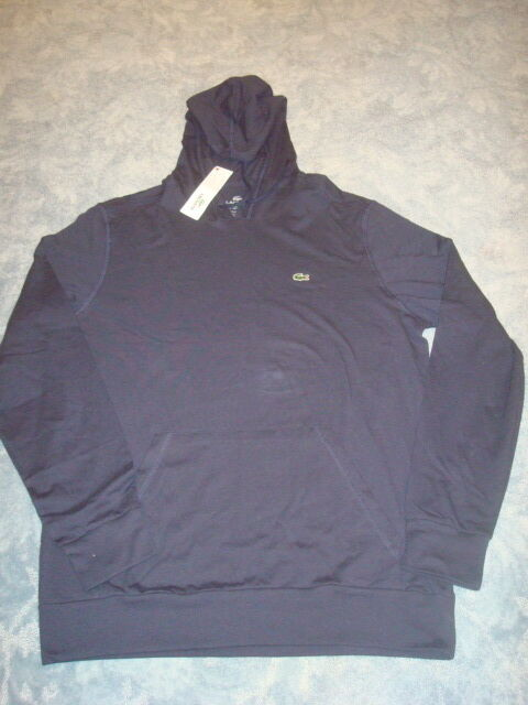 LACOSTE NAVY blueE LIGHT WEIGHT HOODIE SIZE 6 LG