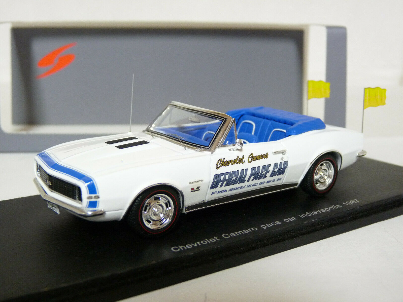 descuento online Spark S2613 1 43 1967 Chevrolet Camaro Camaro Camaro Pace Coche Indianapolis modelo de resina  barato