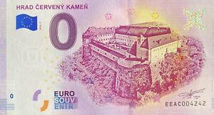 BILLET-0-EURO-HRAD-CERVENY-KAMEN-SLOVAQUIE-2018-NUMERO-DOUBLON-4242