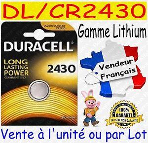 Piles-DURACELL-DL2430-CR2430-Vente-aussi-CR2032-CR2025-CR2016-CR1616-CR2450