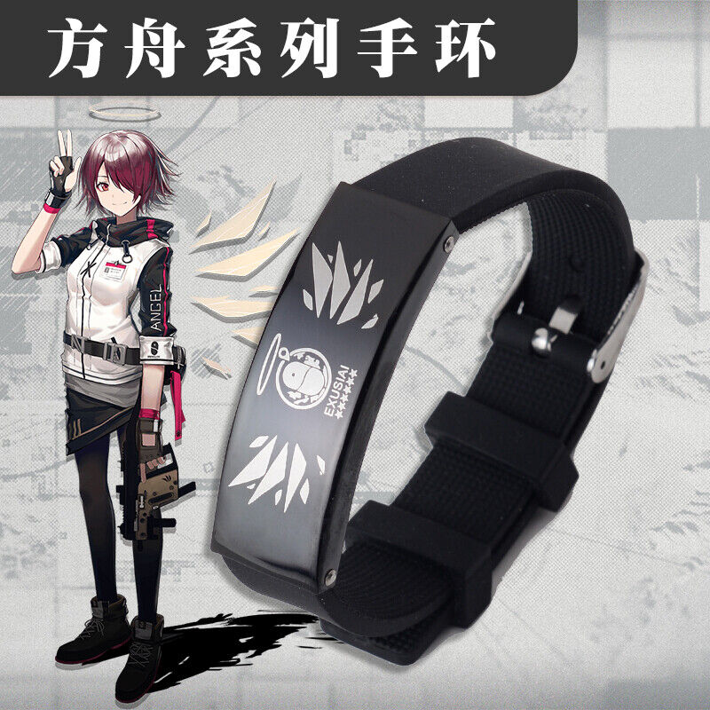 Anime Arknights Ch'en EXUSIAI Texas Lappland Cosplay Wristband Bangle Black