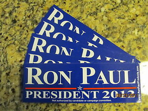 CAR-MAGNET-RON-PAUL-PRESIDENT-2012-BLUE-BUMPER-STICKER-NEW