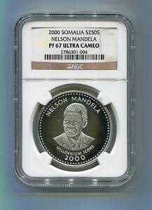 NGC-Proof-67-Somalia-2000-Nelson-Mandela-250-Shillings-Silver-Coin-Rare-PF-67