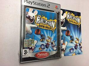 RAYMAN-RAVING-RABBIDS-PLATINUM-PS2-PLAYSTATION-2-PAL-USATO