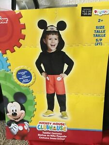 Disney Mickey Mouse Clubhouse Child Costume Size Toddler Small  2T New!