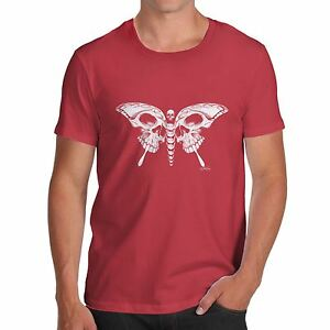 Twisted-Envy-Skull-Butterfly-Men-039-s-Funny-T-Shirt