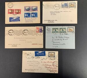 South-Africa-Postal-History-Lot-of-5-Covers-Between-1939-1945
