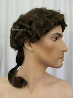 Black Minute Man Wig .. Cogsworth - Beauty And The Beast - From Sepia. Black