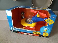 New Disney Pilot DONALD DUCK Figure & Rescue Copter Helicopter Plane Playset