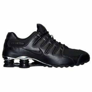 Nike Shox NZ Premium  (536184-001) Black/Chrome Mens Sz 8