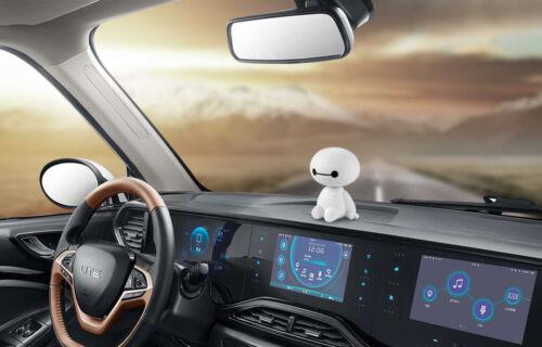 Baymax  Roboter Auto Dekor Spielzeug schüttelt den Kopf Big Hero Baymax Puppe