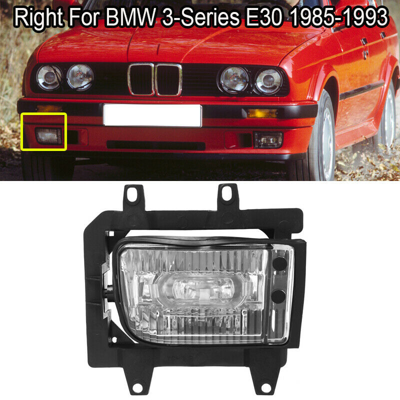 1993 bmw 3 series fuse box cover front right bumper clear fog light plastic lens for 85 93 bmw e30  plastic lens for 85 93 bmw e30