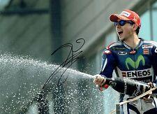 Jorge LORENZO SIGNED 16x12 Autograph Podium Photo AFTAL MOTOGP Movistar Yamaha