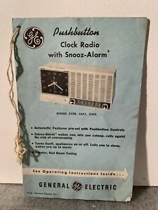 Vintage-RARE-GE-PushButton-Clock-Radio-C450-C451-C452-INSTRUCTION-MANUAL-COLLECT
