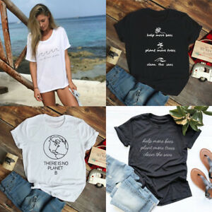 Help-More-Bees-Plant-More-Trees-T-shirt-Save-The-Environment-Tee-Tops-Present