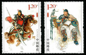 China-2011-23-God-of-Guan-Di-Legends-stamps-S-S