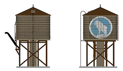 Broadway Limited 6098 HO Scale GN WATER TOWER W/S