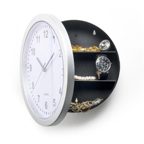 Details about  /Novelty Wall Clock Diversion Safe Secret Stash Money Cash Jewelry Security Lock