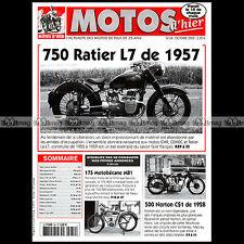 MOTOS D'HIER N°54 MOTOBECANE 175 MB1 RATIER 750 L7 NORTON CS1 YDRAL ANDRE MONPO