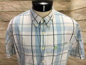 Duck-Head-Oxford-Shirt-SS-Men-039-s-XL-White-Plaid