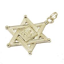 Davidstern Lion of Judah Anhänger Löwe Judas 925 Sterling Silber vergoldet Rasta