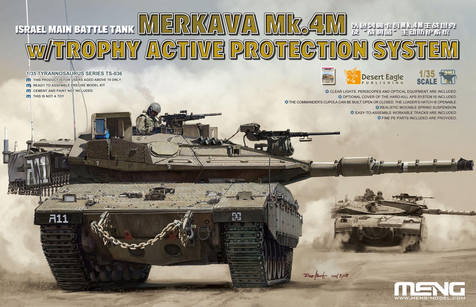 Meng 1 35 Merkava Mk.4M with Trophy Active Predection System Israeli MBT TS-03