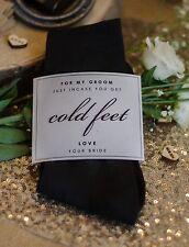 Black 'Groom' Wedding socks- incase of cold feet! With  hand made wrap.