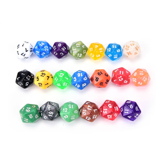 1PC D20 gaming dice twenty sided die number 1-20 for RPG game LY