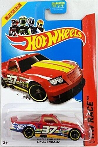 HW HOT WHEELS 2014 HW RACE #156//250 CIRCLE TRUCKER HOTWHEELS RED TRACK READY