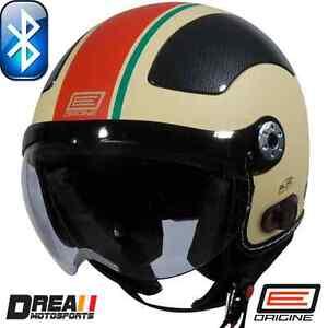 ORIGINE-BLUETOOTH-MATTE-FLAT-BLACK-CREAM-OPEN-FACE-MOTORCYCLE-HELMET-DOT-XS-XL