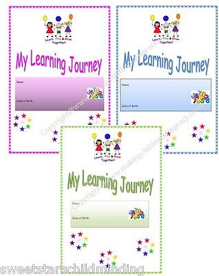 *MY LEARNING JOURNAL/ JOURNEY EYFS* childminder, childminding resource
