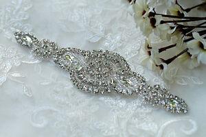 Rhinestone-Beaded-Applique-Pearl-Applique-Crystal-Trim-Bridal-Accessories