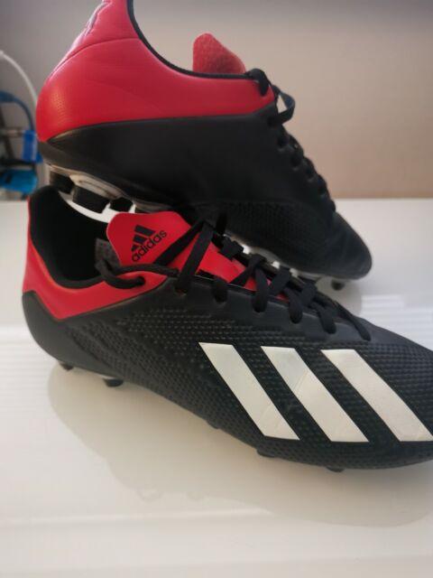 Mens Uk Size 7 Black & Red Adidas Predator 18.4 FG Football Boots With Box