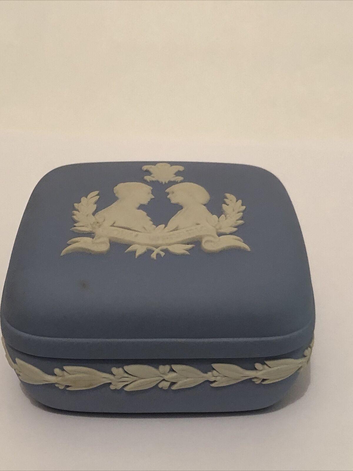 Image 1 - Royal Wedding 1981 - Square Trinket Box - wedgwood jasper ware