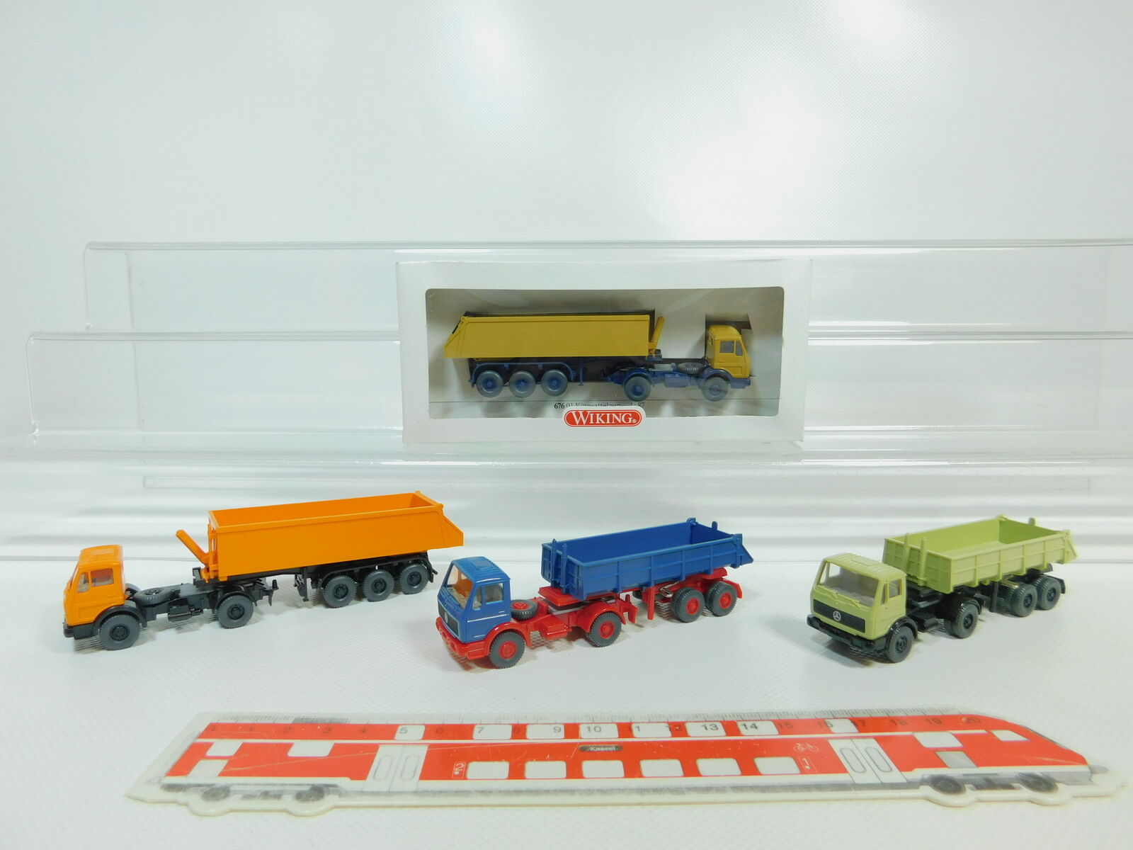 BO497-0,5 x Wiking H0   1 87 Lorry Lorry Lorry Mercedes-Benz   MB  676 01 etc. ,Mint + 1x 04313f
