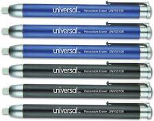 Universal Office Products Unv55106 Pen Style Retractable Eraser Blueblack
