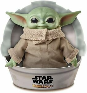 Baby-Yoda-Doll-Star-Wars-Mandalorian-The-Child-11-034-Plush-Mattel-GWD85