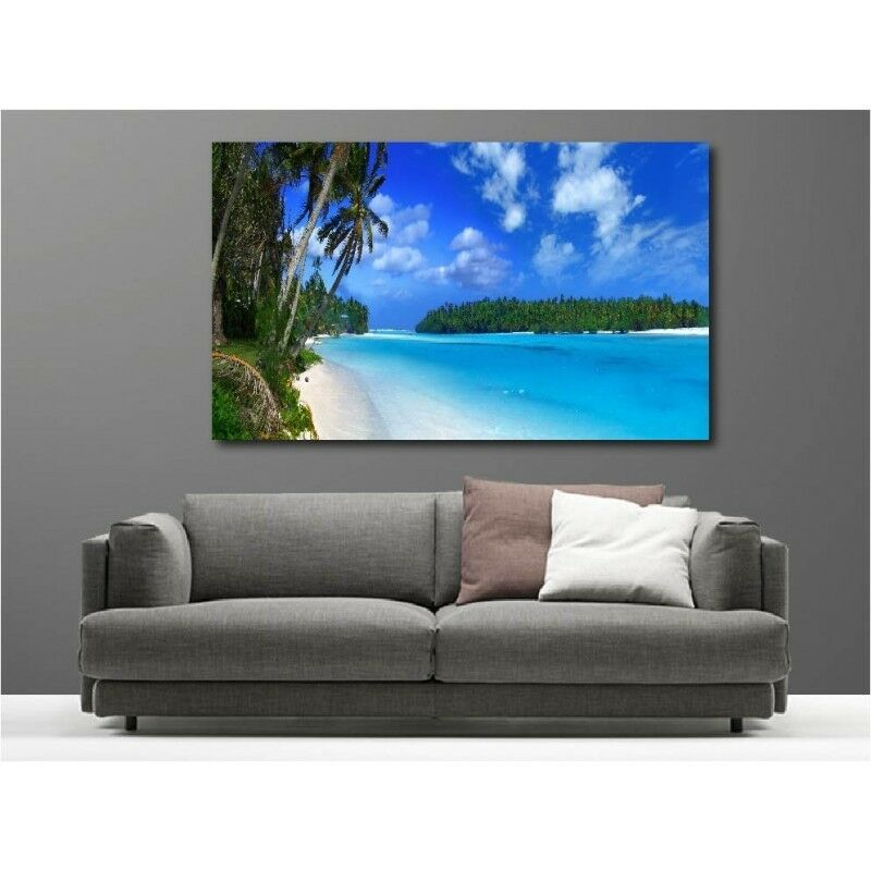 Canvas Fabric Deco Rectangle View on the Beach 1612679
