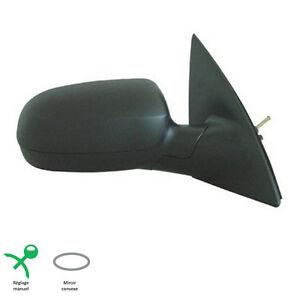 RETROVISEUR-PASSAGER-DROIT-MANUEL-NOIR-POUR-OPEL-CORSA-C-09-2000-06-2006