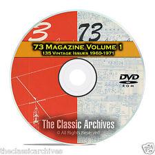 73 Magazine Volume 1, 1960-1971, 135 Vintage Ham Amateur Radio Magazine DVD B96