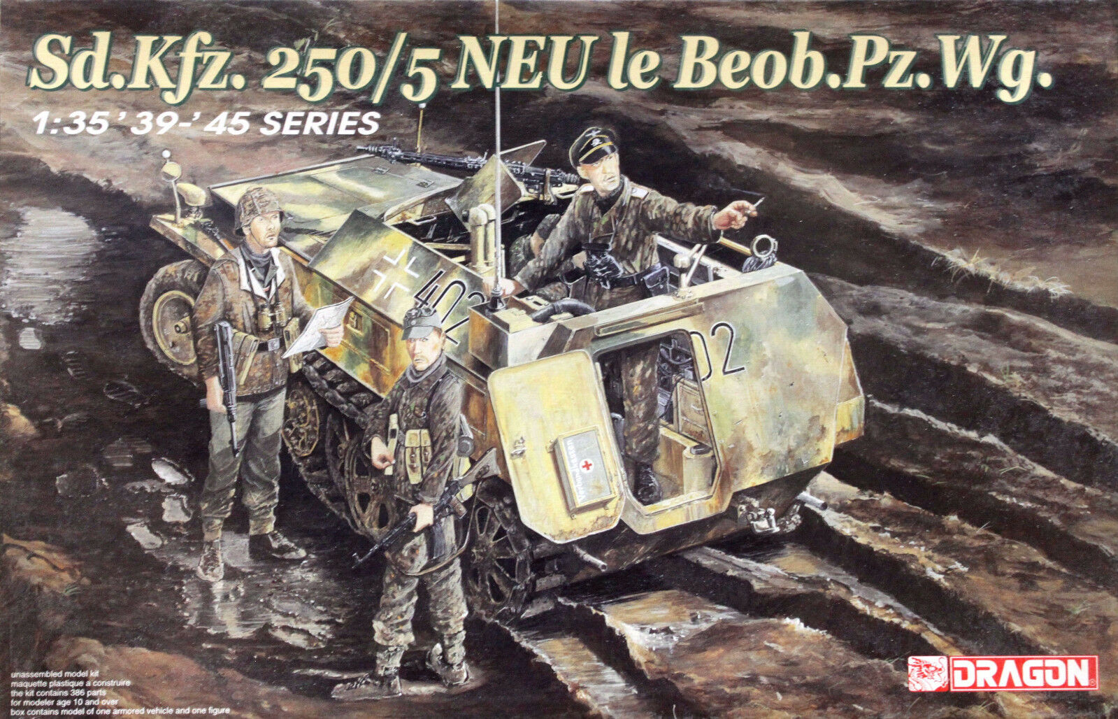 Dragon 1 35 6141 WWII German Sd.Kfz.250 5 NEU Le Beob.Pz.Wg. w 1 Figure