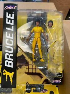 DIAMOND-SELECT-BRUCE-LEE-YELLOW-JUMPSUIT-ACTION-FIGURE-SEALED