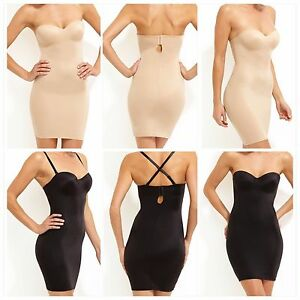 d02a0061e773 Image is loading Nancy-Ganz-Shapewear-Sleek-Slip-Dress-Black-Warm-