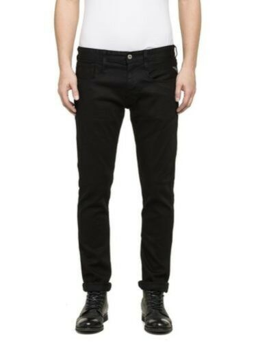 Replay Men/'s Jeans Anbass m914-473-07s Slim Fit Black